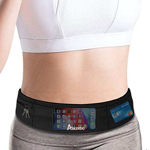 Running Belt Fanny Pack Phone Holder for women men,Fitness Workout Waist Pouch Bag for Exercise Gym Walking,Travel Money Jogging Pocket Belt Runners Gift Accessories Gear for iPhone 11 8 7 Plus XS XR