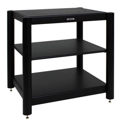 Empire EC-03 HiFi-Rack | Ausführungen: EC-03 BB | Farbe Rahmen/Rohre: schwarz | Einlegebodendekor: schwarz lackiert