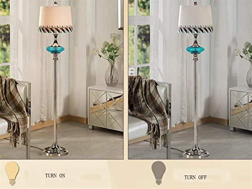 GYW-YW Suelo de uplighter De pie luminarias de tela Lampshade modernos de pie luminarias for sala de estar dormitorio creativo sencilla y elegante de noche Incluye bombilla