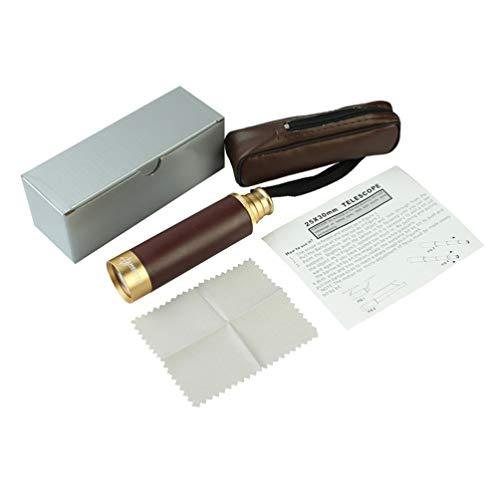 STOBOK Piratenteleskop 25X30 Spyglass Tragbares Zusammenklappbares Handfernrohr Vintage Monokular für Kinder