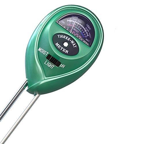 SmartChoice 3 in 1 Soil pH and Light Meter - Soil Moisture Sensor, 3-in-1 Test Kit Module, for Indoor Outdoor Plants Care, Soil Moisture Meter, Plant Water Tester Kits for Garden Plants