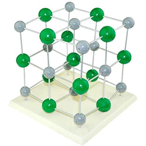 MKULOUS Chemie Molekulares Modell, Chemische Kristallmolekülstruktur des Natriumchloridmodells für Lehrer Studenten Chemieunterricht
