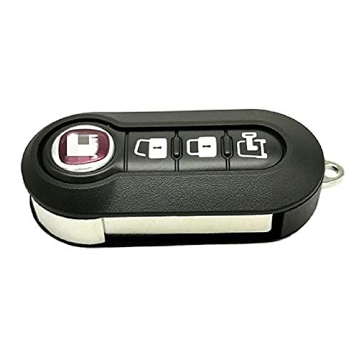 Carcasa de Llave de Control Remoto, Adecuada para Fiat 500 Panda Punto Bravo Stilo Ducato Citroen Jumper Peugeot Boxer SIP22 Llave abatible