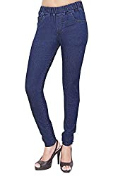 Adbucks Womens Cotton Lycra Jeggings with Elasticated Waistband