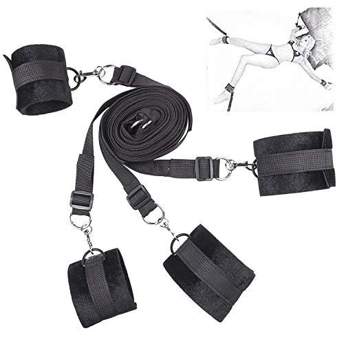 RianGor Kit de sujeción de esclavitud de Cama con puños y puños en el...