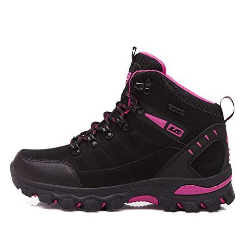 shoe Outdoor-Wanderschuhe für Damen, wasserdichte und atmungsaktive High-Top-Wanderschuhe, Wanderschuhe, rutschfeste leichte Wanderschuhe, geeignet zum Wandern/Angeln/Reiten