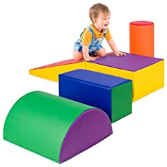 SOFT & SAFE FOAM: Child safe materials provide you with peace of mind and your child with a soft, low-impact surface to toddle and tumble in safety EASY MAINTENANCE: Lightweight blocks resist stains and wear, thanks to an easy-to-clean vinyl surface ...