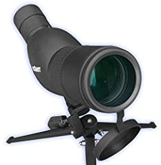 ACCESSORIES INCLUDED - Compact Precision Spotting Scope With ZOOM 12-36x50 (Includes Premium Portable, Foldable, Handled Tripod and Carrying Case and Lens Caps) 45 Degree Angled Eyepiece Allows Practical Comfortable Viewing WEATHERPROOF RUBBER ARMOR ...