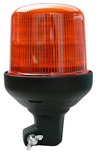 HELLA H27112031 K-LED 100 Pole Mount Beacon Warning Light, Flashing/Rotating Patterns, Waterproof, 12/24V, Amber