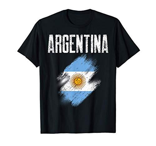Regalo bandiera argentina del paese argentino vintage Maglietta