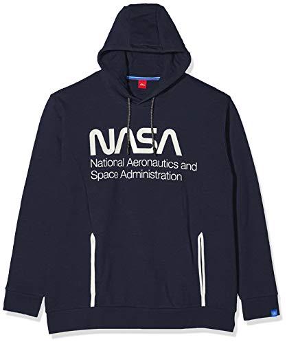 s.Oliver Big Size Herren 15.911.41.4928 Sweatshirt, Blau (Fresh Ink 5952), Small (Herstellergröße: XX-Large)