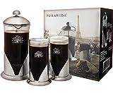 Pura Vida French Press Coffee Maker Set, 34 oz - 4 Level Filtration