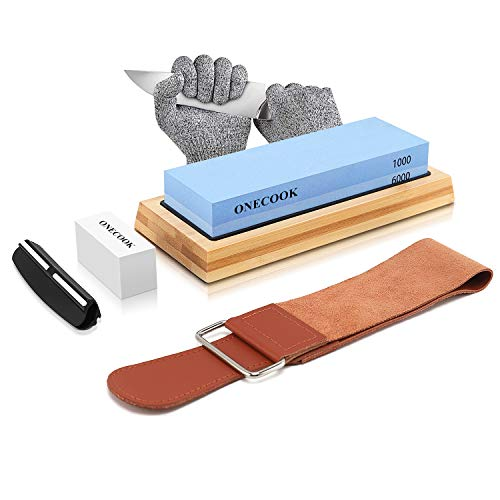 ONECOOK Knife Sharpening Stone Set 400/1000 3000/8000 (model C)