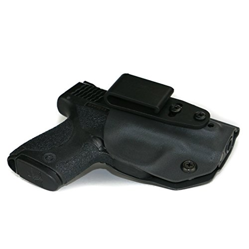 FoxX Holsters Deluxe Trapp Kydex IWB Holster Compatible for Smith & Wesson M&P Shield M2.0 Integrated Laser 9/40 Our Smallest Inside Waistband Holster Adjustable Cant & Retention (Black)