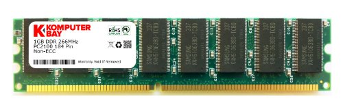 1024MB DDR 266MHz PC-2100 184-pin DIMM - 1GB DDR1 PC266 PC2100 RAM-Speicher Speicher inkl. Antistatikfolien von DIGIWAYCITY