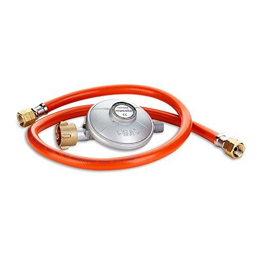 Melko Gasschlauch 80CM Gas Schlauch + Druckminderer Regulator Gasregler Gasgrill Regulator