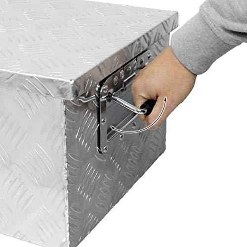 ECD Germany Alu Werkzeugkasten 73 x 24 x 32 cm - abschließbar - Werkzeugkoffer Werkzeugkiste Werkzeugbox Alukiste Kiste Alubox Transportbox Transportkiste Deichselbox Truckbox Box - 4
