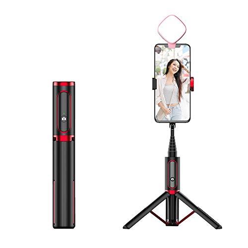 JIN GUI Bluetooth Selfie Stick Stativ, 8 Abschnitte Teleskopfernbedienung Aufnehmen Telefonstative Mehrwinkel-Fotografie, für Partys Travel Live Broadcast