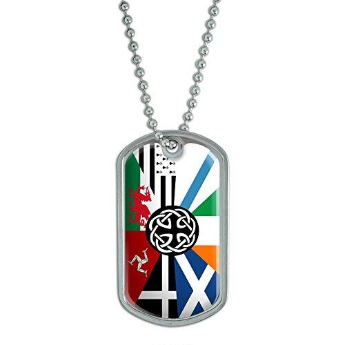 Graphics and More Celt Irish Ireland Pan-Celtic Nation Flag - Military Dog Tag Luggage Keychain