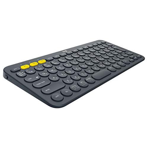 ロジクール ワイヤレスキーボード 無線 キーボード 薄型 小型 K380BK Bluetoothワイヤレス Windows Mac iOS Android Chrome K380 国内正規品