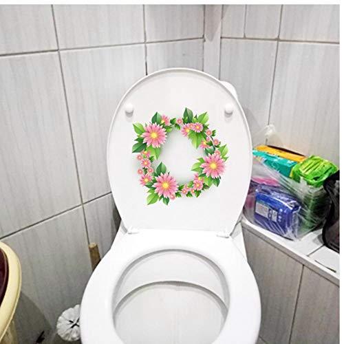 Muursticker 3 stks 22,8x2,6 cm Roze Gerbera Krans Moderne Slaapkamer Muursticker Thuis WC Decor