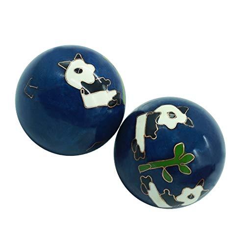 1.5'' Health Hand Balls Carved Panda Pattern...