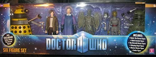RARE DOCTOR WHO 6 FIGURE SET Gelb DALEK THE ETERNAL SMILER 2010 by BBC