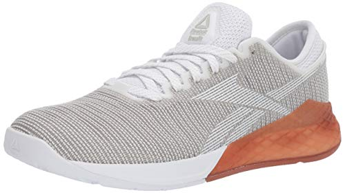 Reebok Men's Nano 9 Cross Trainer, White/Grey, 10.5 M US