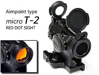 キルフラッシュガード装備【Aimpointタイプ】 Micro T-2 Red Dot Sight レプリカ レッド ドットサイト QDハイマウント/ホワイト刻印