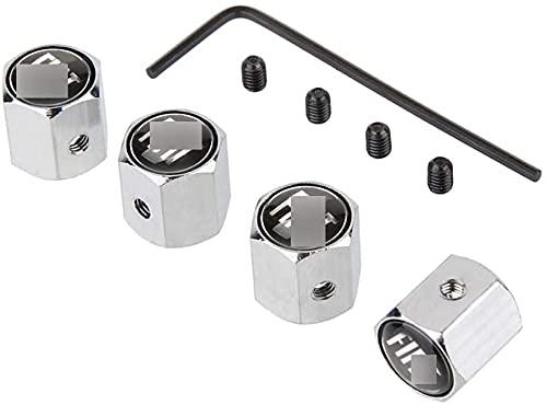 4 Piezas Metal Coche Neumático Válvula Tapas Para Fi-At 500 500c Aegea Doblo Panda Uno Palio, Antirrobo Antipolvo Resistente Agua TapóN Decoración Accesorio