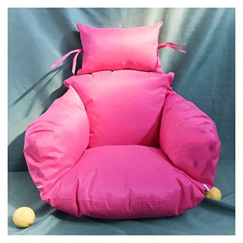 Colgando cesta colchoneta colchoneta, cojín de silla de huevo Cojines de silla de hamaca de huevo colgando, sin soporte de color múltiple columpio columpio silla espeso colgando silla de espalda con a