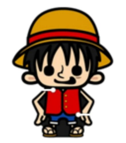 One piece x bread loss earphone cord manager Luffy (japan import)