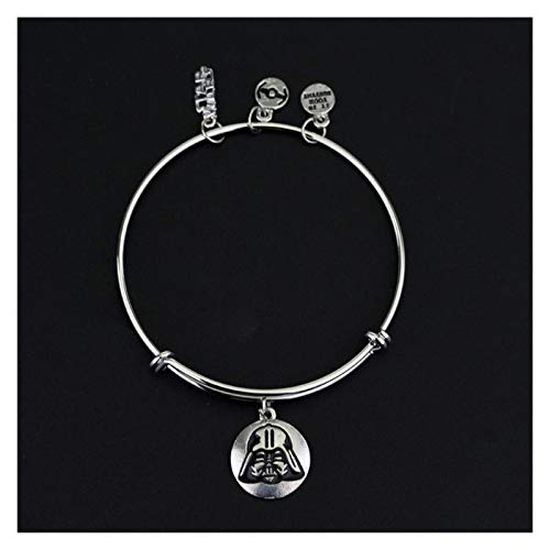 MGMDIAN Women's Star Wars Bracelet Black Warrior spaceship Pendant Bracelet Adjustable accessories