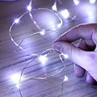 Festive Lights 20 LED Battery Operated Micro Fairy Lights with Silver Wire Available in 6 Colours (W...