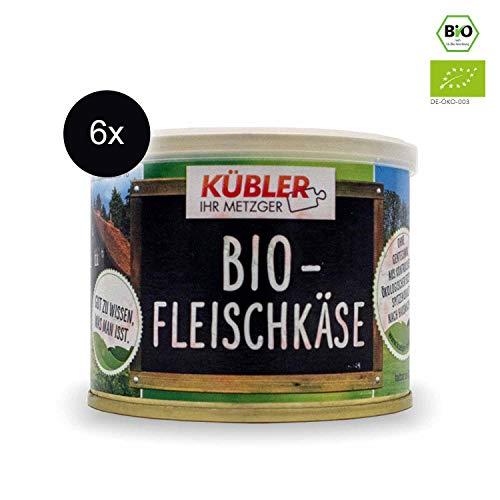 Bio Dosenwurst - Bio-Fleischkäse • 1,2kg (6 x 200g) • Aus Deutschland • Biologische Zutaten • Tradiotionelle Metzgerei • Hausmannskost • Bio-Wurst Bio-Wurst