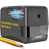 Electric Pencil Sharpener Heavy Duty, Pencil Sharpener Plug In, Auto Stop Classroom Pencil Sharpener, 10000 Times Sharpening for Heavy Use, 1s Fast Sharpen, Super Sharp for 6.5-8mm No.2 Pencils, Gray