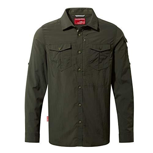 Craghoppers NL ADV LS Shirt Camicia, Dark Khaki, XXL Uomo