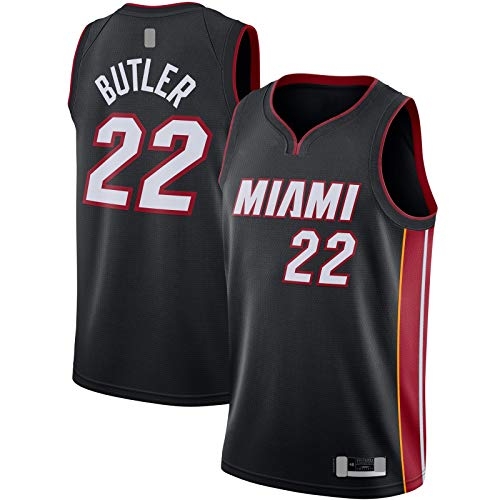 QSWW Ropa Deportiva Baloncesto Jersey Custom Outdoor #22 Swingman Jersey Negro - Icon Edition