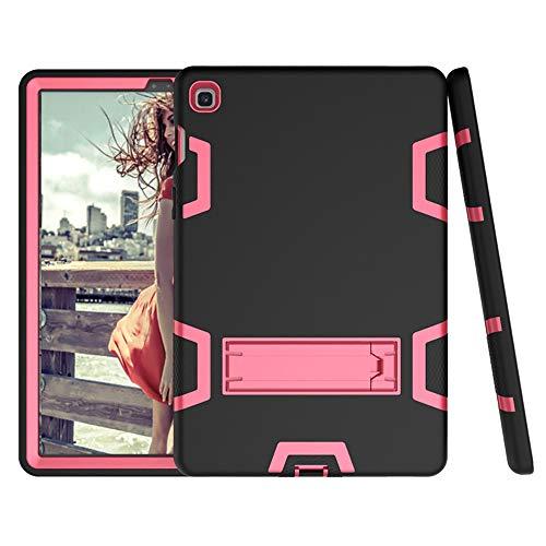 Bestgay Funda para Galaxy Tab S5e de 10.5 pulgadas 2019, SM-T720 / SM-T725, resistente a prueba de golpes y cuerpo completo híbrido con función atril para Samsung Galaxy Tab S5e (negro+rojo rosa)