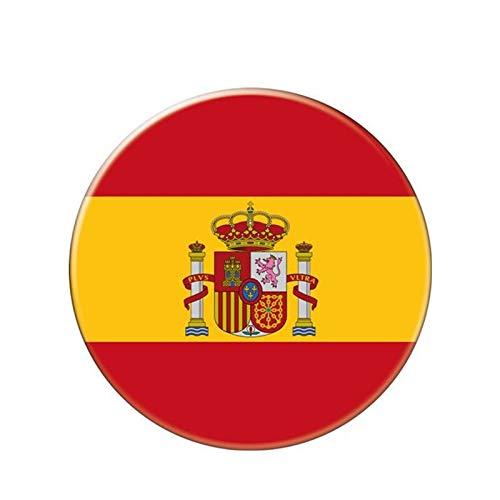 Yanxintiyu Cartello rotondo spagnolo anti-luce autoadesivo auto impermeabile 3D decorazione paraurti 13 cm x 13 cm