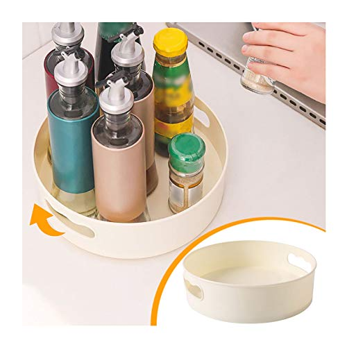 Organizador de Armario Giratorio, Multifuncional para Tarros de Especias Botellas, para Almacenamiento de Cocina, Soporte Giratorio para Condimentos, Estantes de Almacenamiento Antideslizantes (A)