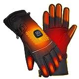 Guantes Calefactables Con batería recargable, 3 Temperaturas Ajustables, Hombre Mujer Invierno Guantes Moto...
