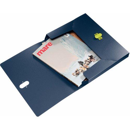 Leitz 46230069 Ablagebox re:cycle, A4, PP, 30mm, dunkelblau