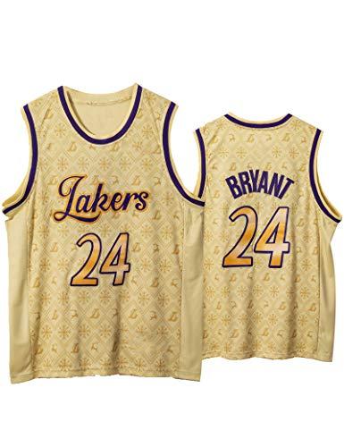 FDSNFV Hombre Jersey Ropa de Baloncesto # 24 Bryant Uniforme de Baloncesto Malla Jersey Camiseta de Basketball Jersey