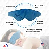 Advanced Weighted Sleep Mask with Adjustable Head Strap - Double-Sided Light-Proof Weighted Sleeping Mask - Induce Faster and Deeper Sleep - Comfortable Design - Perfect for Anxiety & Insomnia (Blue)