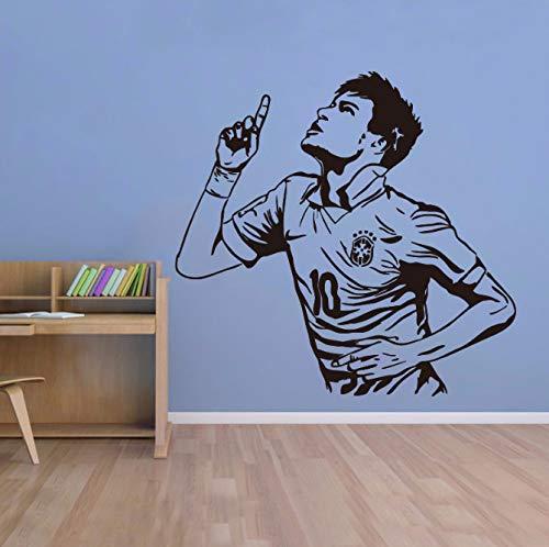 xingzhi Wohnkultur Poster Sport Wandaufkleber PVC Vinyl Abnehmbare Kunstwand Fußballstar Neymar Tore Jungen Zimmer Wandaufkleber 58 * 56 cm
