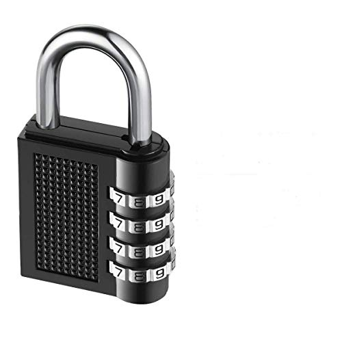 Combination Lock SeeprintX Security Padlock Heavy Duty Lock-Weather Proof Padlock with 4-Digit Smooth Dial for School, Gym, Outdoor Shed Locker -Black (3 Pack)