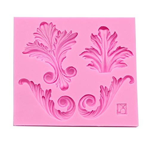 Oyfel Fondant Flor de Encaje Fondant Molde De Silicona en Relieve con Forma de patrón Creativo Vintage Estilo Barroco Curlicues Rollo para Hacer Tarta Pastel