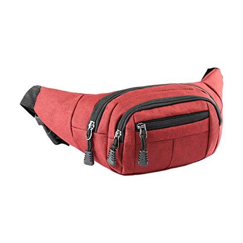 XdiseD9Xsmao waterdichte grote capaciteit polyester outdoor wandelen sport telefoon geld opbergtas draagbare ademende heuptas riemtas riemtas, rood (rood) - 40XA476696AT019P2