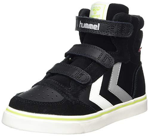 Hummel Unisex-Kinder Stadil Pro Jr High-Top, Schwarz (BLACK), 34 EU